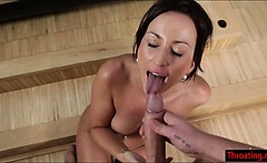 simona style deepthroats a big hard cock