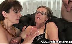 British milf Lady Sonia facial