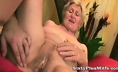 Granny and her new dildo