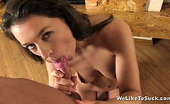 weliketosuck rough deepthroat and cum play