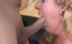 Blonde extreme rough oral sex