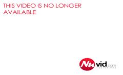 Slutty busty tranny shows off then jack off her huge boner