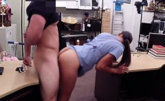 Desperate chick lets the pawn broker fist her