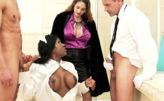 Gagging clothed maid deep throated
