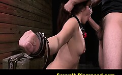 stella may gets to ride her masters new sybian fuck machine