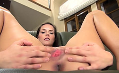 Babe dildoing ultra graceful pussy hole