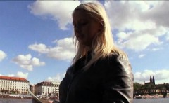 Eurobabe Monika railed by pervert dude for alot of cash