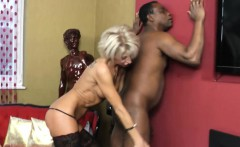 Black man licking and deep fucking in her mouth