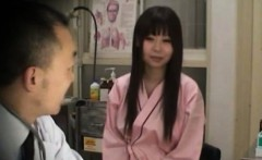 Asian teen at her doctors check up