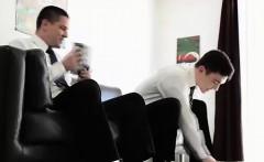 Teen Mormon twinks wrestle in underwear and strip