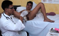 Young twink asian doctor giving enema