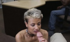 Pornstar got her wet tight pussy fucked and got paid