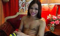 Hot Asian Shemale Babe Masturbating