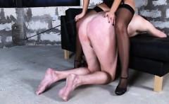 mistress makes her doggy boy slurp her saliva and urine