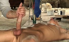 The devilish twink arrives and starts feasting on that cock