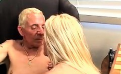 Busty Blonde Bitch Fucks Guy With A Strapon