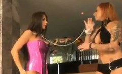 Lesbian Bitch With Her Stunning Slave