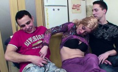 Milf seduce to DP anal fuck by step-son and german friend