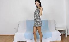 Dazzling brunette Fernanda Martins odd nylon tight fetish
