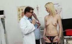 Attractive blond-haired Nelly gets her piss hole capacity