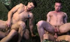 Army muscle jocks getting sucked by stud