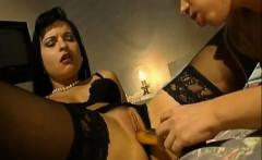 Two lesbian milfs playing
