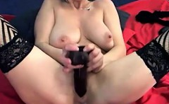 Hot blond mom Emanuelle gets squirting orgasm