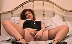 Red Haired Mother In A Corset Masturbating