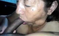 Thick Latin Grandma Giving Head POV