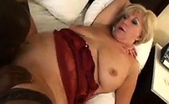 Blonde Granny Wants His Black Dick In Her
