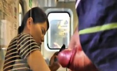 Flashing And Jerking Off On The Train