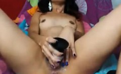 Latina Masturbating With A Long Toy