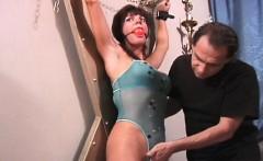 Sexy secretary Liz gets tied by kinky
