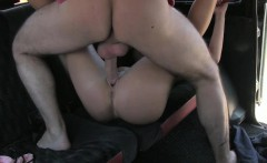 Lovely amateur girl gives head and screwed to off her fare