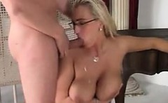 Blonde Nerd With Great Large Breasts