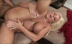 Mature blonde having interracial sex