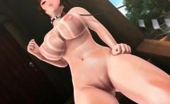 Anime busty anime cutie giving tit job gets jizz shot