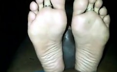 indian womans feet and soles on his cock