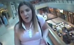 teen girl with big boobs sucking cock in mall