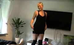 Blonde Milf Fucked in her Shaved Pussy