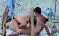 Chick Giving A Blowjob At The Beach
