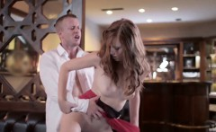 Sexy redhead Linda Sweet getting ass fucked hard in the pub