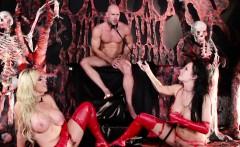 Fantasy ffm threeway in hell with Nikki Benz