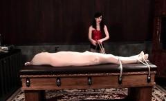 Bad mistress warps male sex slave for torture