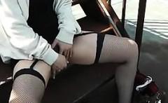 Asian Masturbates And Sucks Cock Outside