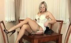 MILF Teasing Her Body In Sexy Lingerie