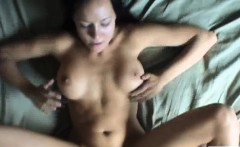 massive boobs babe gets her pussy fucked in the bedroom