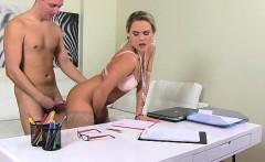 Busty girl hard anal pounding