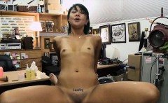 Oriental girl pawns her pussy and banged by pawn keeper