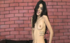 Latina cutie strips and face fucked
